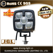 25w cree led work light for trucks atv utv jeep used boat trailer light 4x4 accessories 4WD led work light