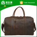 Custom Vintage Top Quality Pure Leather Duffel Bag Luggage Bags