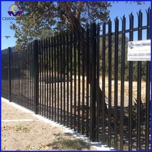 Black PVC Coated Galvanized Steel Palisade Fencing