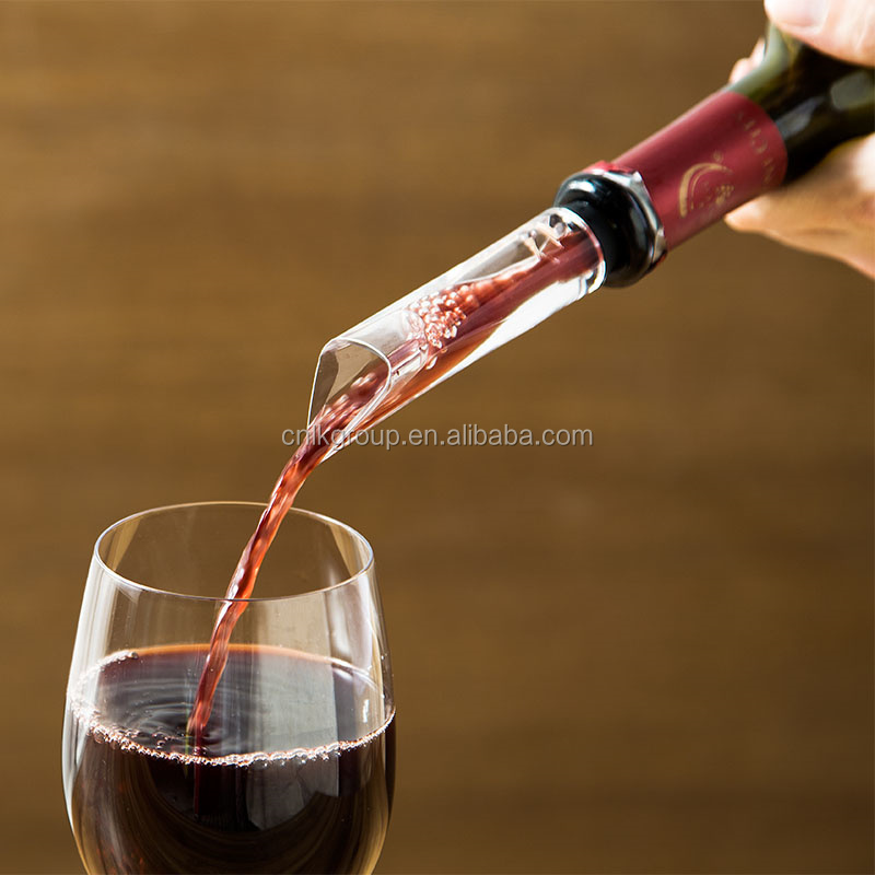 Wholesale Plastic Wine Pourer,Aerating Decanting Spout for Wine Bottles