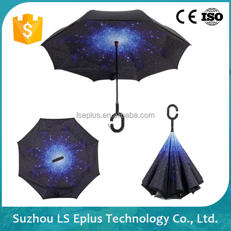 Custom High Quality Windproof Promotion Straight Umbrella
