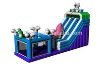 commercial inflatable slide with bouncer