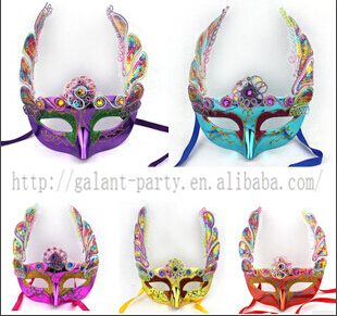2014 female new arrival fashion funny colorful half face festival pastic eye mask