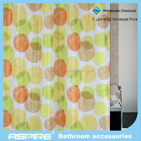 charming Wholesale Checkout polyester lemon slice shower curtain