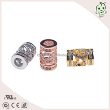 Silver Hollow Connected tube Beads ,Silver Cube Charm