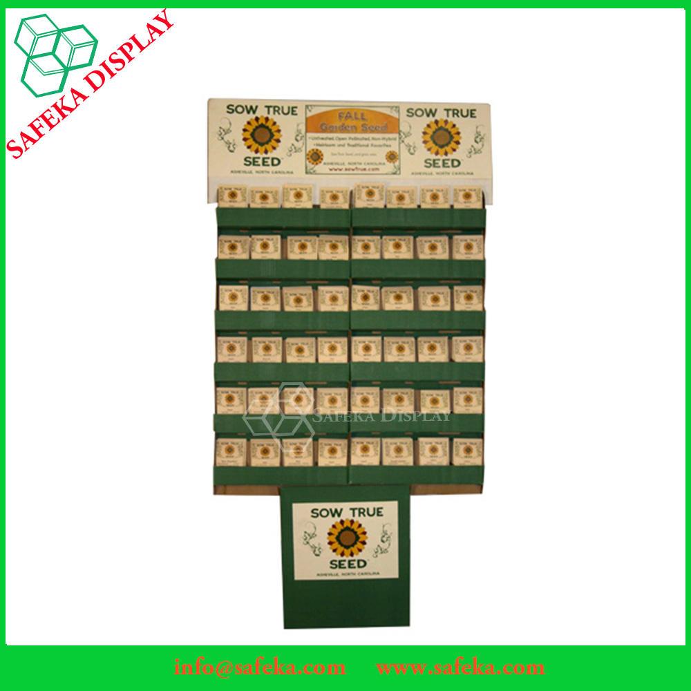 Environmental Eco-Friendly Grocery Plant Seed Display Rack in Supermarket Stores
