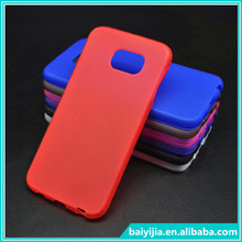 For Samsung Galaxy S6 TPU Silicone Back Soft Gel Cover Case Fit Plain Anti Slip