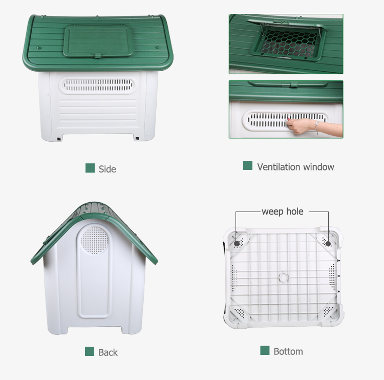High quality plastic strong dog house specifications
