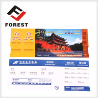 Cheap price flight ticket airline thermal paper boarding pass