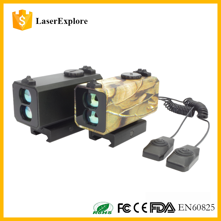 Two colors black and camo iron sight rifle scope laser ir rangefinder 700m with 20mm mount