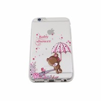 Newest Product 2016 Soft Tpu Transparent Mobile Phone Case Waterproof