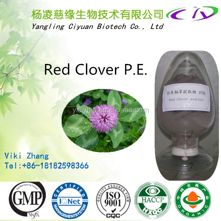 Factory price & Free sample Red Clover Extract/Total Flavone/Red Clover P.E. 8% 10% 20% 40% 60% 80%