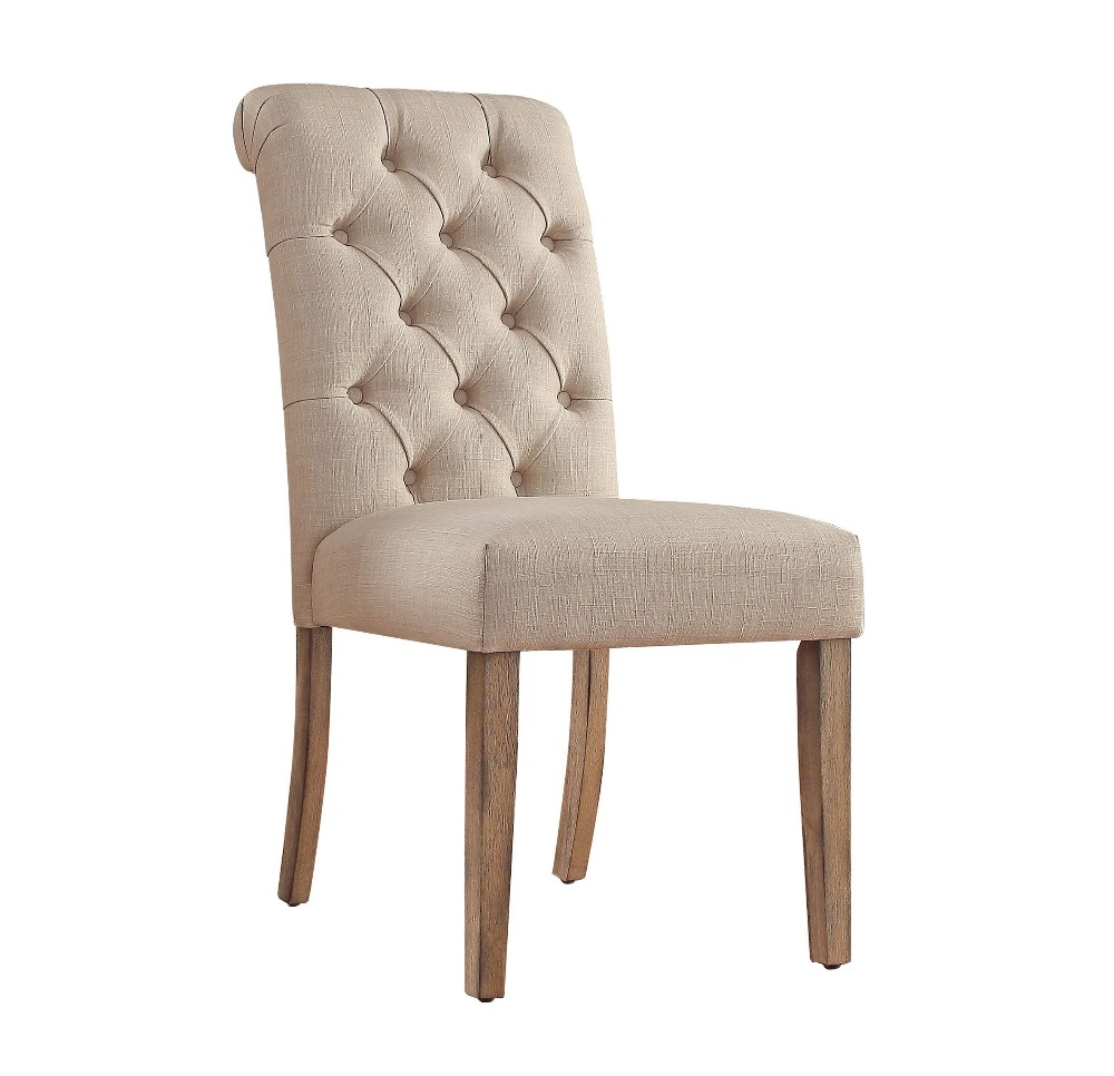 Wood Dining <strong>Chair</strong> Tufted Roll Back Dining <strong>Chair</strong>