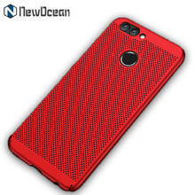 2018 new design Anti fingerprint Mesh Hard PC Rubberized Slim mobile phone case for Huawei P10 selfie