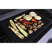 Non-Stick Reusable BBQ Mesh Grill Mat Perforated oven liner Cooking Sheet