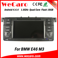 Wecaro Android 4.4.4 car dvd player touch screen for bmw e46 multimedia WIFI 3G A9 cpu