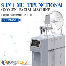 Popular new oxygen therapy facial machine 2012 musicotherapy oxygen infusion with Supersonic RF
