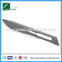 Hot sell ! Disposable safety sterile medical carbon steel stitch&salpel blade manufacturer