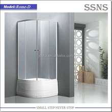 Tempered Glass Shower Stall with Double Sliding Doors (Rome-D)