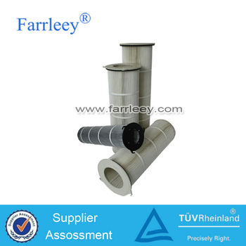 Vacuum convey machine dust collector air filter cartridge,three or four ears Spun bonded polyester air filter cartridge