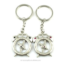 Wholesale manufacturers kinds of couples keychian clock Key Chain keyring