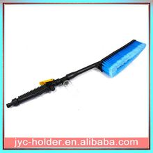 Plastic car washing cleaning wheel brush ,H0T674 car wash brush with squeegee