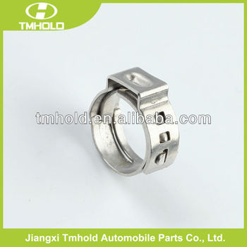 Stainless steel one ear stepless hose clamp