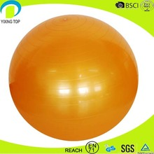2016 smell-less anti burst fitness gym ball with handle