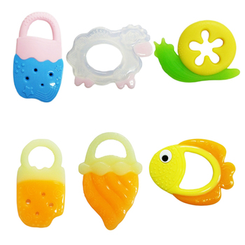2017 promotional gifts BPA free teether toys funny baby soft toys