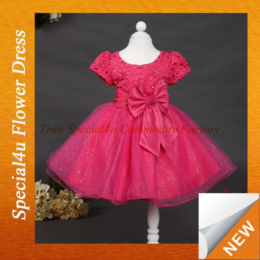 2015 baby girls frock designs for small girls flower dresses for girl of 5 years old western gowns party dresses LYD-296