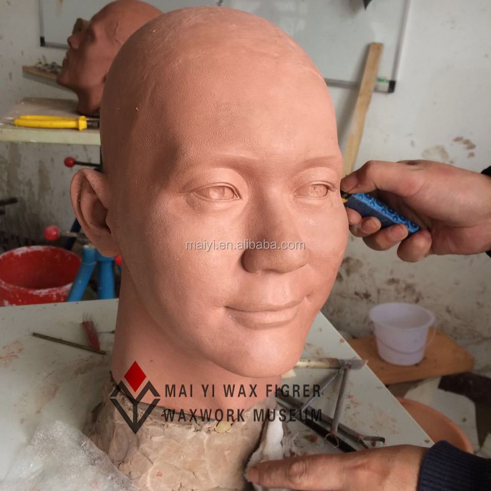 Lifesize Clay Sculpture Head for Silicone Statue
