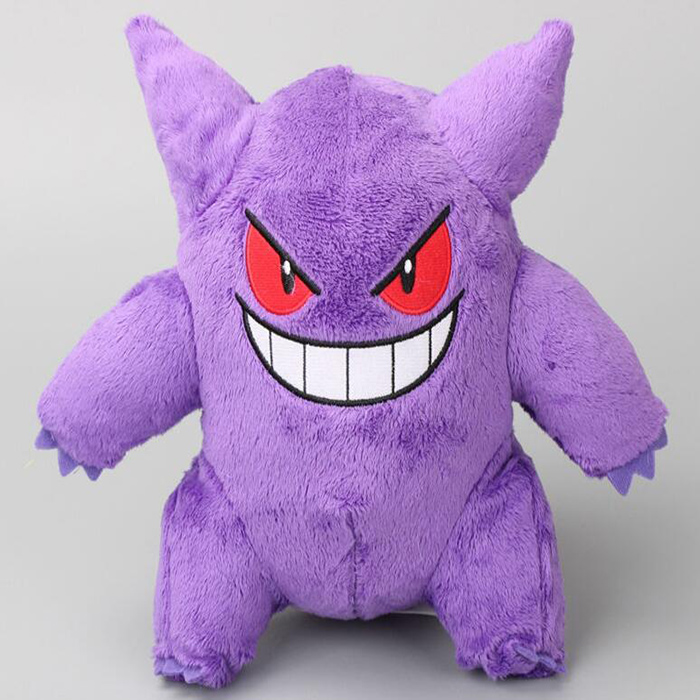 Original Pokemon Gengar Plush Toys Stuffed animal doll with purple