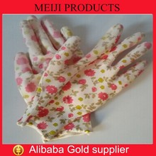 Ladies gardening gloves PU coated nylon working gloves