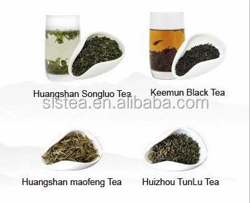 2016 new green tea before qingming festival the material of special tea Huangshan Maofeng,Kemun black tea and huangshan songluo