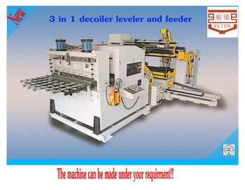metal sheet NC servo feeder equipment with uncoiler and straightener