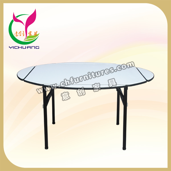 stone dining tables stable frame outdoor banquet table folding round banquet table YC-T01P