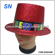 good quality funny paillette happy new year hat for party