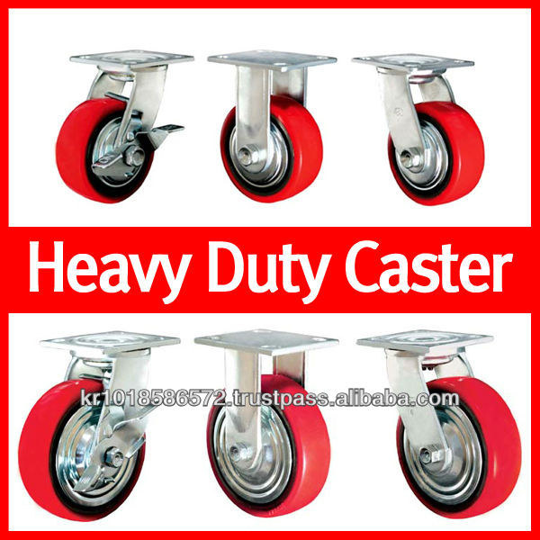 3, 4, 5, 6, 8 inches P.U Heavy duty trolley Caster wheel