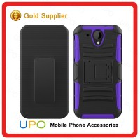 [UPO] Mobile phone back cover new arrival smart hybrid rugged heavy duty armor kickstand case for HTC 520