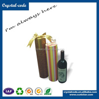 High cost-effective durable cylinder shape gift boxes for wine bottles