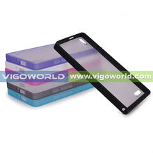 For Huawei P6 Bumper Case Black Transparent TPU Clear