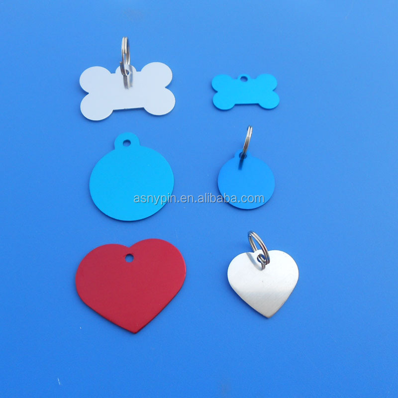 customize various shape LOGO blank pet id tags adopt for metal