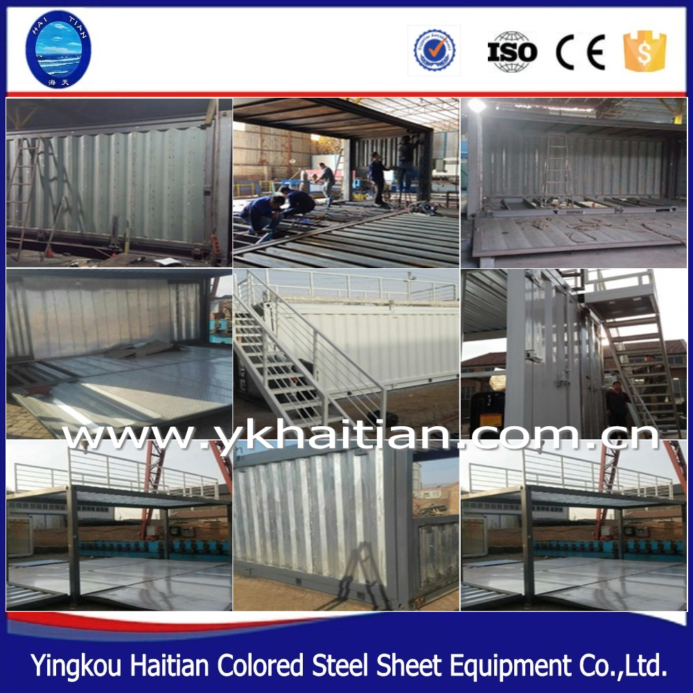Steel finished prefab luxury frame structure shipping mobile restaurant container house Bar cafe coffee shop