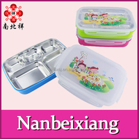1L 5 compartments Lunch Box 304 Kids Stainless Steel Tiffin Box