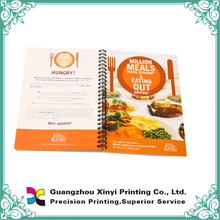 Full color printing menu planner design wire-o binding softcover books