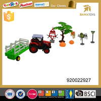 Alloy truck farm utility vehicle with crops and dogs