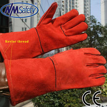 NMSAFETY Aramid Fibers full leather welding gloves
