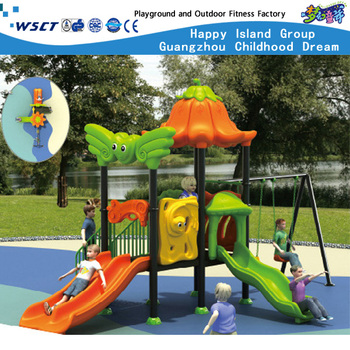(HD-901)Kindergarten Small Plastic Slide With Swing Children Playground