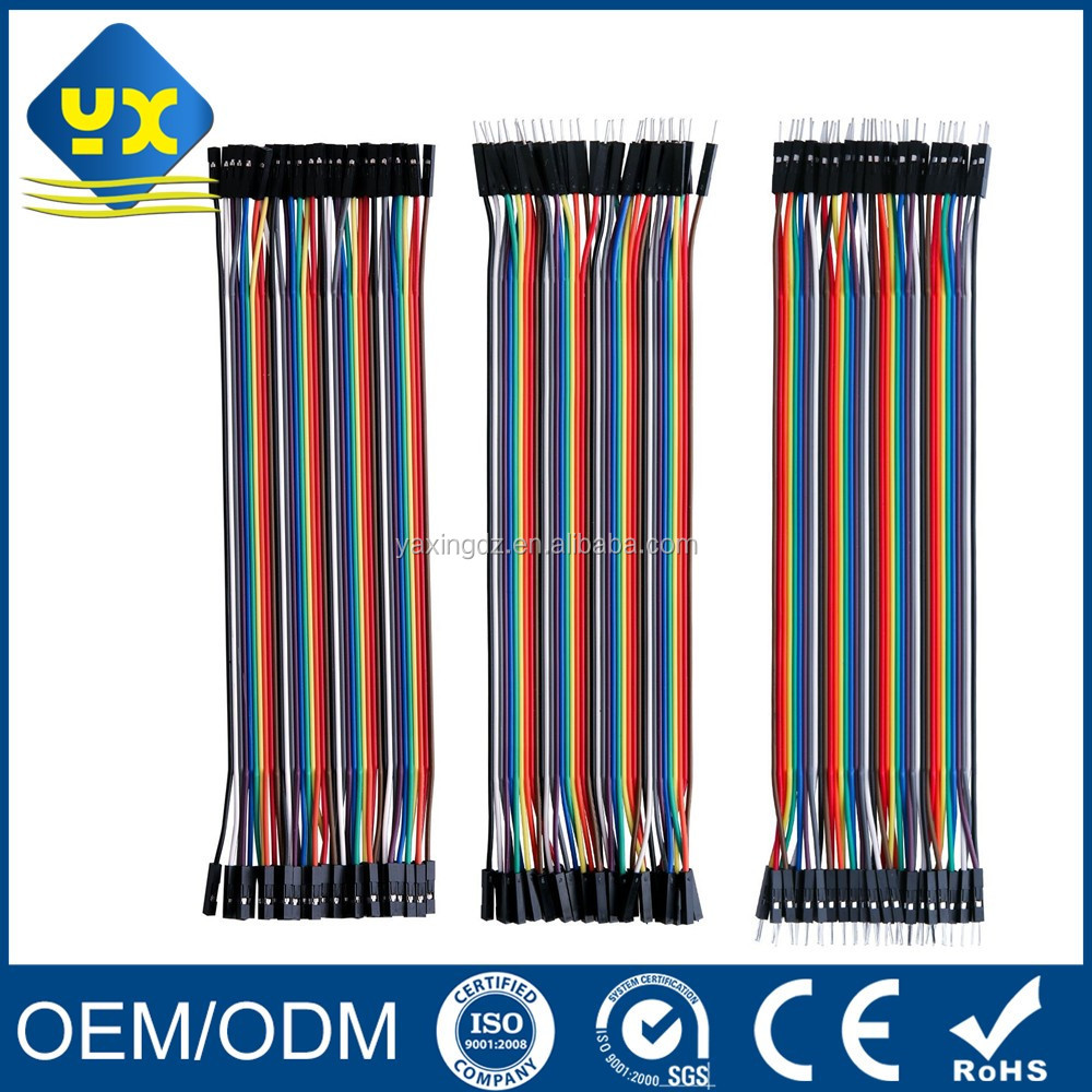 Dupont Wire 40pin Male to Female 40pin Male to Male 40pin Female to Female Breadboard Jumper Wires Ribbon Cables Kit for arduino