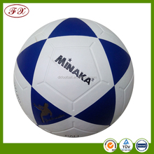 training soccerball,PVC laminated,PU laminated football.Red Color